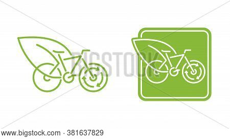 Sustainable Transport Emblem - Migrating Transportation From Fossil-based Energy To Other Renewable