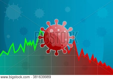 Coronavirus Impact Business In Stock Market. Coronavirus Impact On Healthcare And Global Economy On