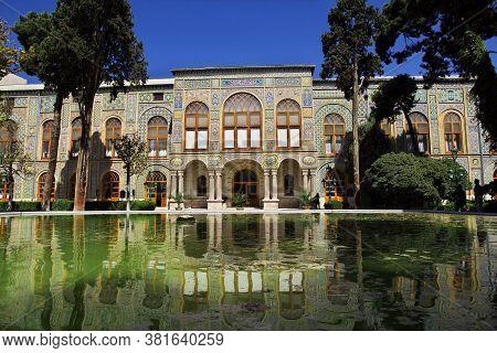 Vintage Golestan Palace In Tehran City, Iran