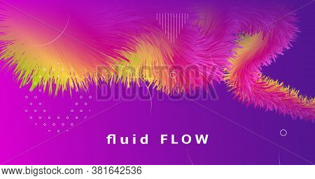 Vibrant Design. Fluid Dynamic Motion. Gradient Background. Vector Music Vibrant Design. Futuristic W