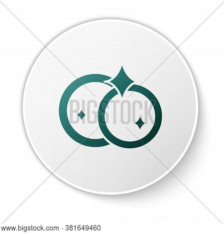 Green Washing Dishes Icon Isolated On White Background. Cleaning Dishes Icon. Dishwasher Sign. Clean