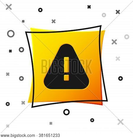 Black Exclamation Mark In Triangle Icon Isolated On White Background. Hazard Warning Sign, Careful,