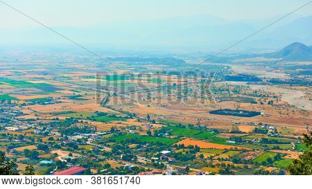 Valley in Thessaly, Greece. Landscape
