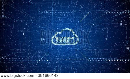 Technology Network And Data Connection, Secure Data Network Digital Cloud Computing, Cyber Security