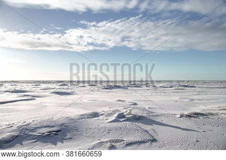 Snow, Ice And Hummocks On The Winter Coast Of The Gulf Of Bothnia
