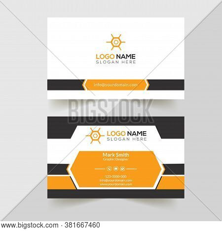 Modern professional Business Card Template.Simple Business Card. Professional Business Card. Corporate Business Card Design.Colorful Business Card Template.Creative Business Card. Editable Business Card. Abstract Business Card.