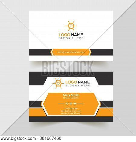 Modern professional Business Card Template.Simple Business Card. Professional Business Card. Corporate Business Card Design.Colorful Business Card Template.Creative Business Card. Editable Business Card. Abstract Business Card.