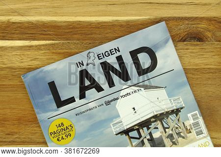 Amsterdam, The Netherlands - August 9, 2020: Dutch Travel Magazine Promoting Vacation In The Netherl