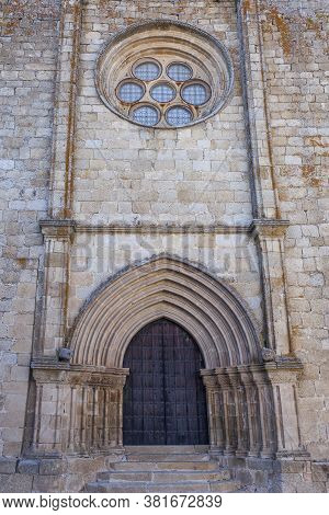 Santa Maria La Mayor Church, Trujillo, Spain. Main Facade View