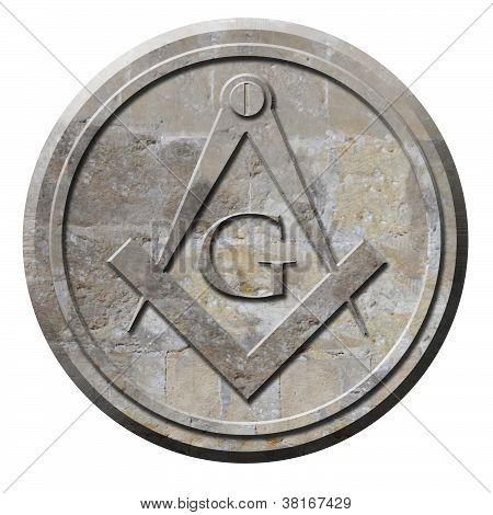 Freemason Symbol Carved In Stone Circle