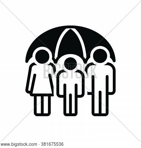 Black Solid Icon For Life-insurance Life Insurance Guarantee Allowance Group Reinsurance Provision P