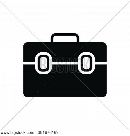 Black Solid Icon For Suitcase Travel-bag Valise Portmanteau Vanity-case Baggage Handbag Access Journ