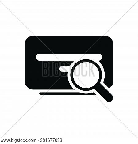 Black Solid Icon For Search Investigation Find Quest Research Inquest Scrutiny Discovery