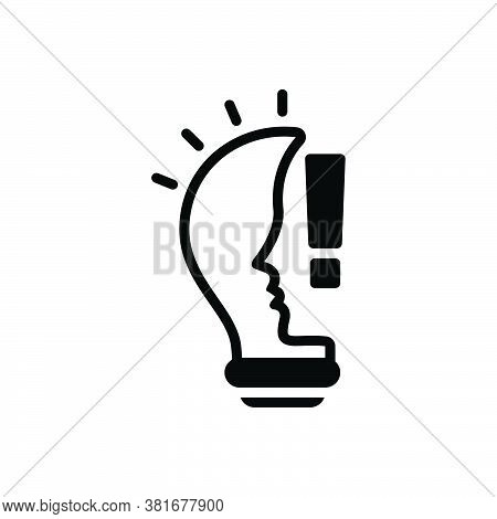 Black Solid Icon For Idea Belief Conclusion Concept Consideration Opinion Thought Thinking Suggestio