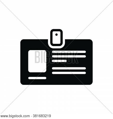 Black Solid Icon For Personal-id Intimate Secret Privy Peculiar Retired Own Identification Authentic