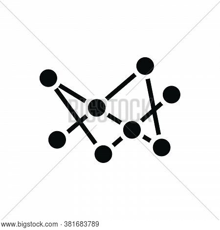 Black Solid Icon For Connection Connect Community Connectivity Networking Hub Interaction Branches N