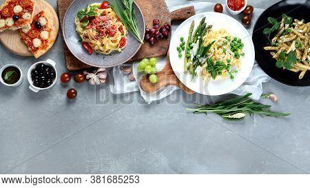 Prepared Vegan Pasta, Pizza And Snacks