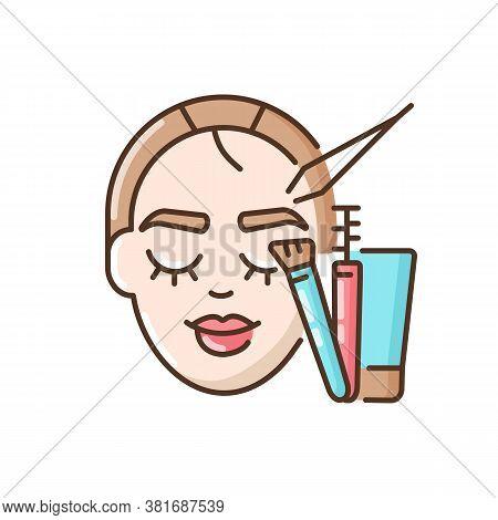 Brow Art Rgb Color Icon. Eyebrow Lamination And Tinting. Beauty Salon. Semi Permanent Eyebrows Makeu