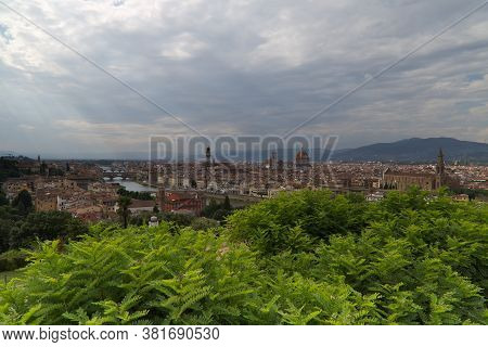 View Of Florence From Piazzale Michelangelo. High Quality Photo