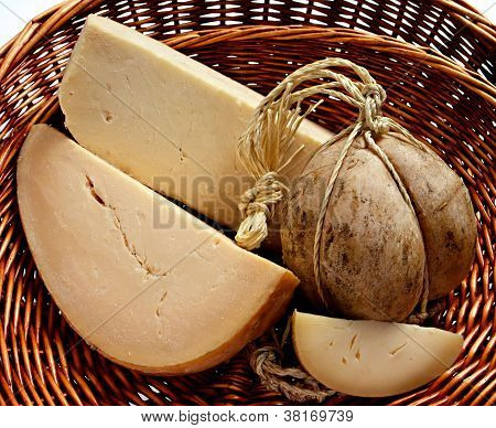 Provolone Cheese In A Basket