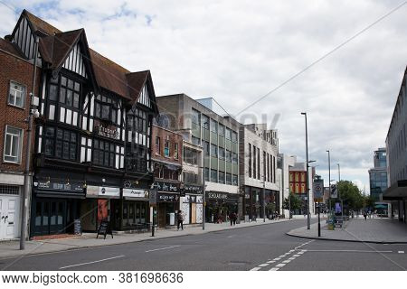Shops And Restaurants On Above Bar Street In Southampton, Hampshire In The Uk, Taken On The 10th Jul