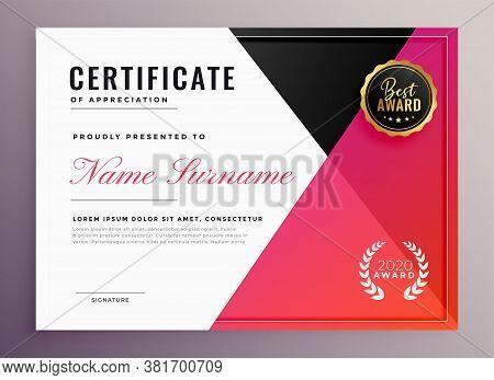Elegant Geometric Multipurpose Certificate Template Vector Design Illustration