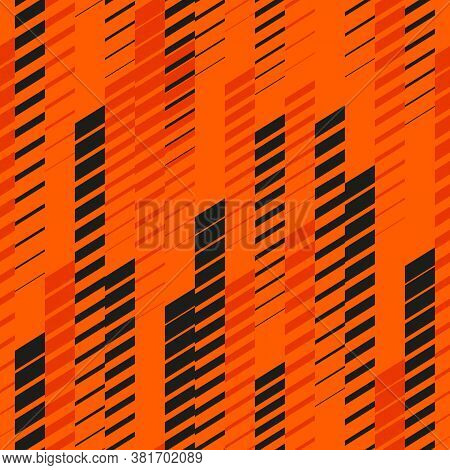 Sport Pattern. Vector Abstract Geometric Seamless Background With Vertical Fading Lines, Tracks, Hal