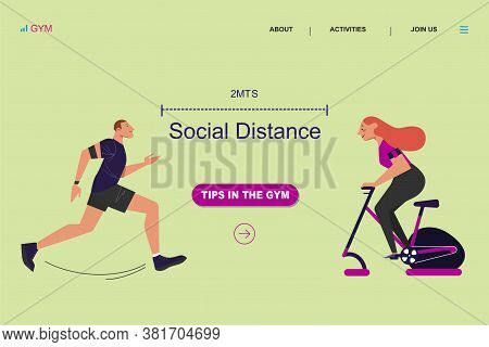 People Doing Sports Activity With Smart Gadgets. Run, Gym, Running Sprinter Distance, Technologies I
