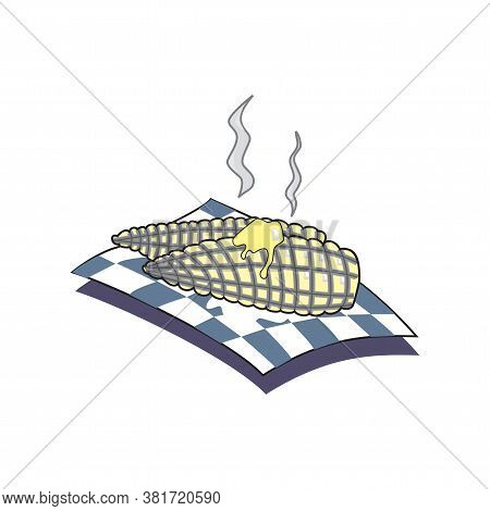 Corncob Vector Illustration Isolated On White Background In Eps10