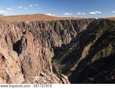Black Canyon Of The Gunnison National Park, Is A Deep Gorge, Carved Out By The Gunnison River. A Pop
