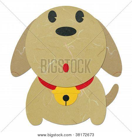 Rice Paper Cut Cute Cartoon Dog