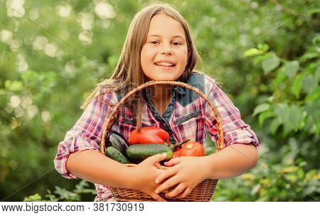Gmo Free. Eco Farming. Girl Cute Smiling Child Living Healthy Life. Healthy Lifestyle. Healthy Homeg