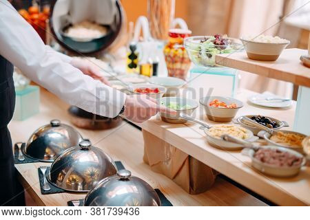 Breakfast Buffet At The Hotel Or Restaurant.