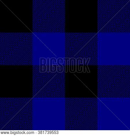Tartan Plaid. Scottish Pattern In Black And Navy Cage. Scottish Cage. Traditional Scottish Checkered