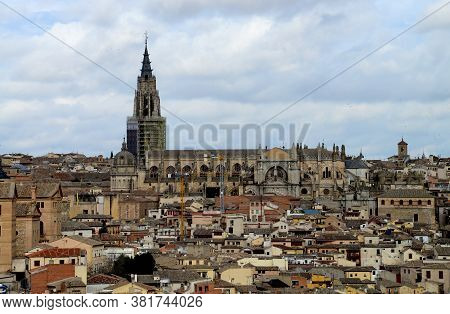 Saint Mary Of Toledo, Toledo Cathedral, The Ancient City Of Toledo Spain In Winter