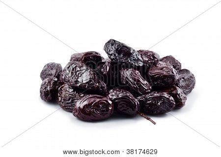 Thassos Throuba Olives On White Background With Clipping Path