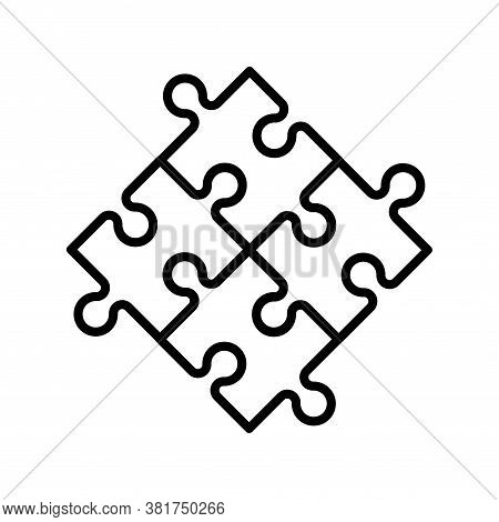 Puzzle Compatible Icon In Flat Style. Jigsaw Agreement Vector Illustration On White Isolated Backgro