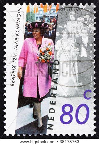 Postage stamp Netherlands 1992 Queen Beatrix