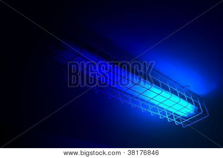 Magic Light From Blue Neon Power Lamp, Science Details