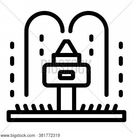 Sprinkler Icon. Outline Sprinkler Vector Icon For Web Design Isolated On White Background