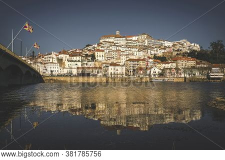 03.11.2019 City Of Coimbra In Portugal ,  The University On A Hill With An Old Town By The River Cit