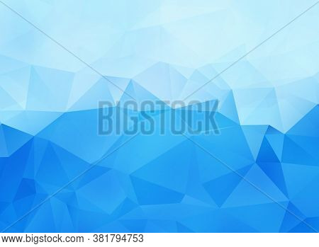 Abstract Blue Vector Background With Triangle Elements
