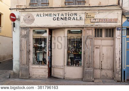 Bordeaux , Aquitaine / France - 04 15 2020 : Bridel Beurre Alimentation Generale French Vintage Stor