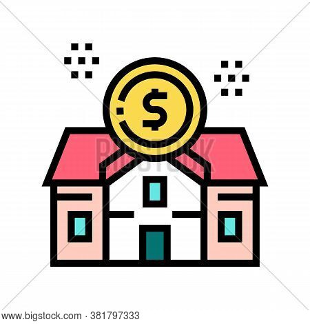 Rental House Building Color Icon Vector. Rental House Building Sign. Isolated Symbol Illustration