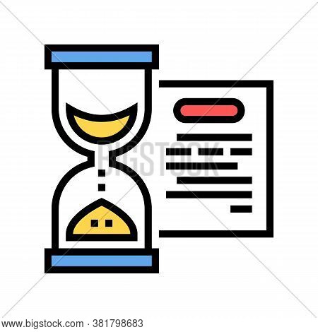 Performing Tasks Time Color Icon Vector. Performing Tasks Time Sign. Isolated Symbol Illustration
