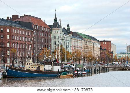 Old Promenade Of Helsinki.