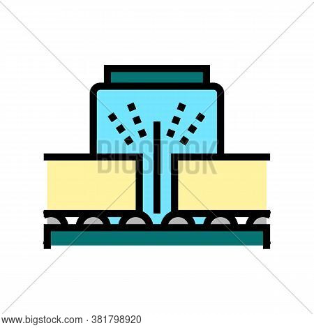 Cut Machine Plywood Factory Color Icon Vector. Cut Machine Plywood Factory Sign. Isolated Symbol Ill