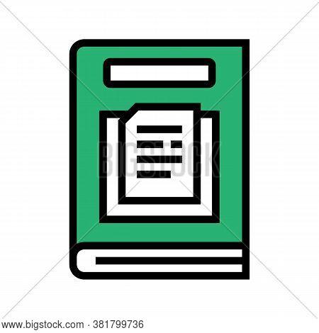 Nonfiction Genre Color Icon Vector. Nonfiction Genre Sign. Isolated Symbol Illustration