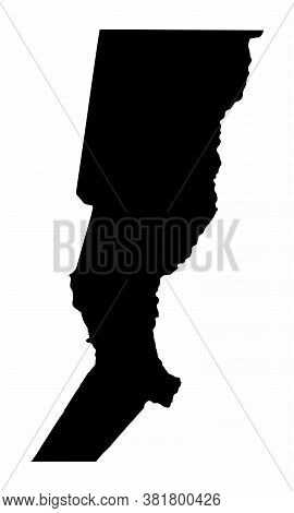 The Santa Fe Province Dark Silhouette Map Isolated On White Background, Argentina