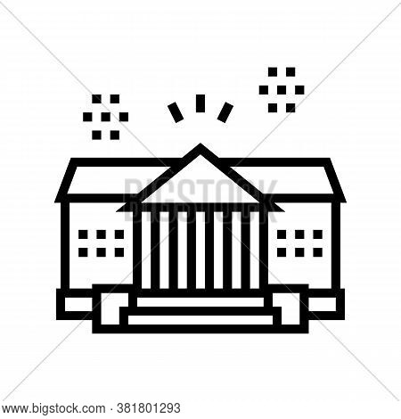 House Residence Line Icon Vector. House Residence Sign. Isolated Contour Symbol Black Illustration
